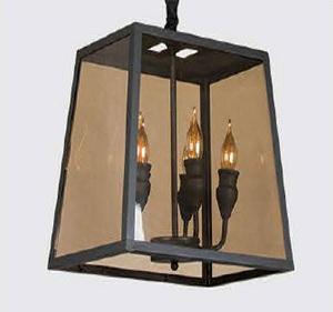 لوستر شیشه خور شمعی کد ۱۲۶۵
