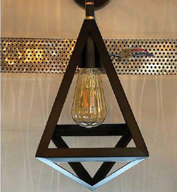 چراغ دیواری مثلث لوزی کد D1279