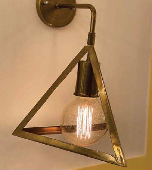 چراغ دیواری مثلث کد 1259D