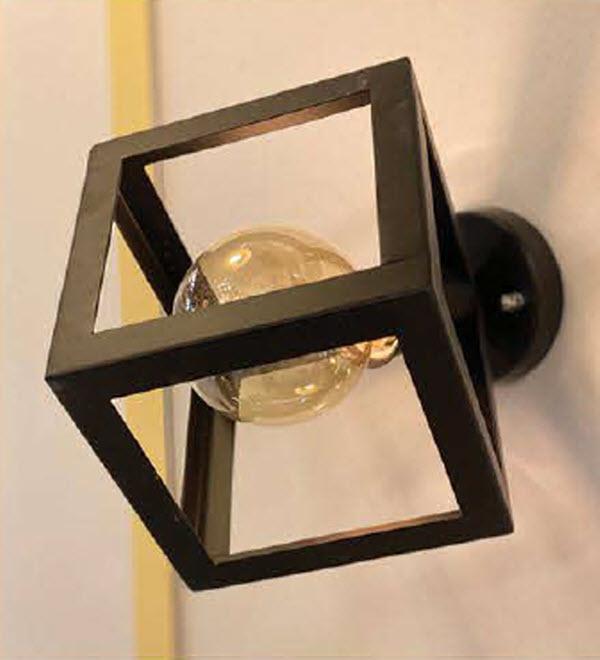 چراغ دیواری مربع کد 1258D